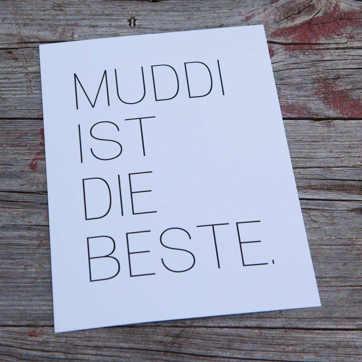 muddi ist die beste