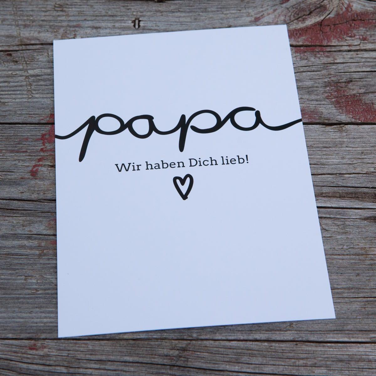 papa wir haben dich lieb