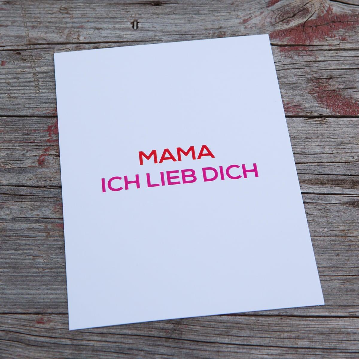 mama ich lieb dich